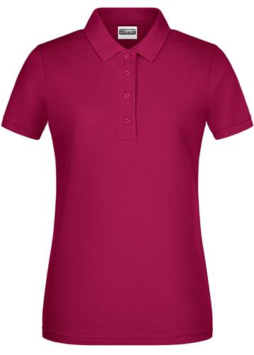 Damen Basic Polo-Rot-L