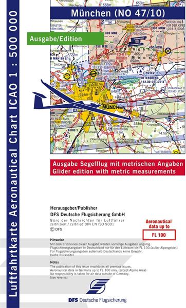 ICAO-Segelflugkarte München 2021 Lieferbar ab KW 13