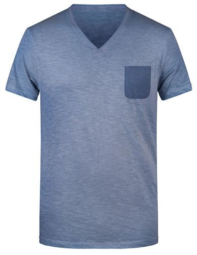 Männer Slub-T-Shirt-Grün-L