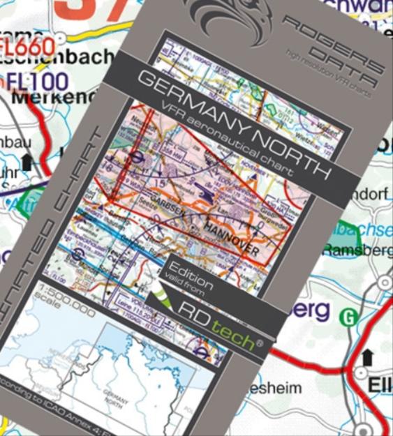 Rogers Data Deutschland Nord VFR Luftfahrtkarte – ICAO Karte