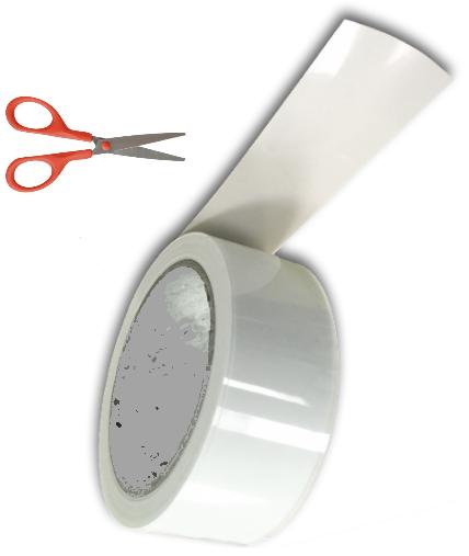 2m Ruderspalt 30mm Profilband Mylarband 30 mm breit Restposten