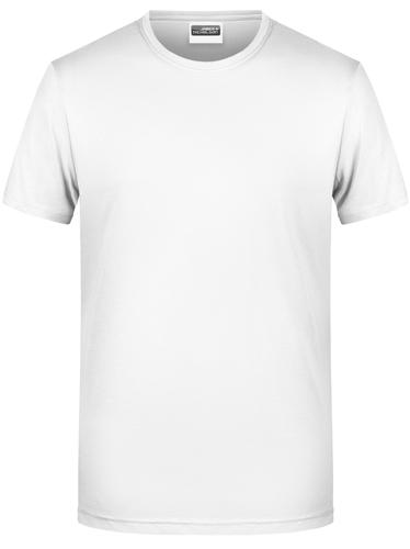 Männer Basic-T-Shirt-Weiß-XXL