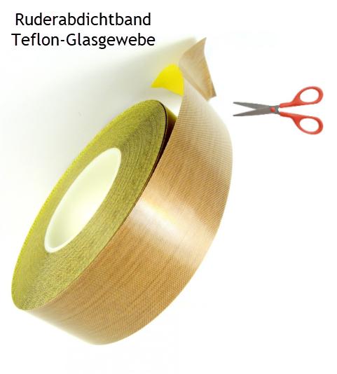 14 m 38mm Ruderabdichtband Teflon-Glas RESTPOSTEN