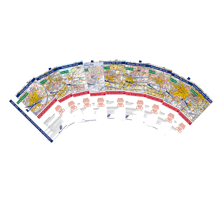 Komplettsatz ICAO-Segelflugkarten Deutschland 2021 Papier Lieferbar ab KW 13