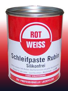 Rot Weiss Schleifpaste Rubin