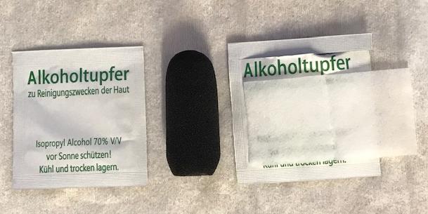 Headset Ersatz-Windschutz für Mikro - Set mit Alkoholtupfer