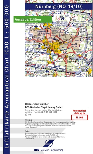 ICAO-Karte Nürnberg 2021