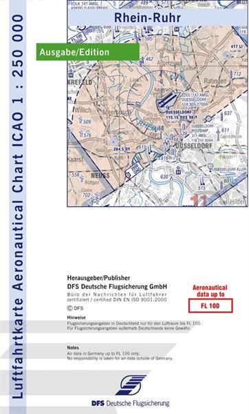 ICAO-Karte Rhein-Ruhr 2021