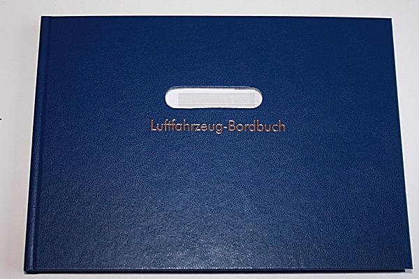 Bordbuch Motorflug Blau