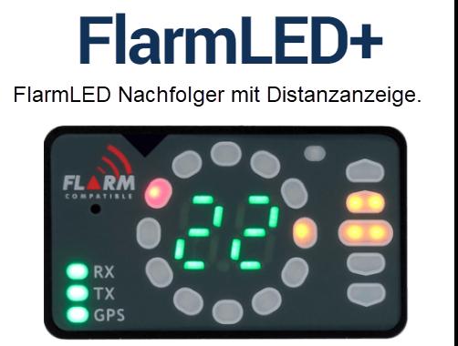 FlarmLED+ Flarmdisplay mit Entfernungsanzeige