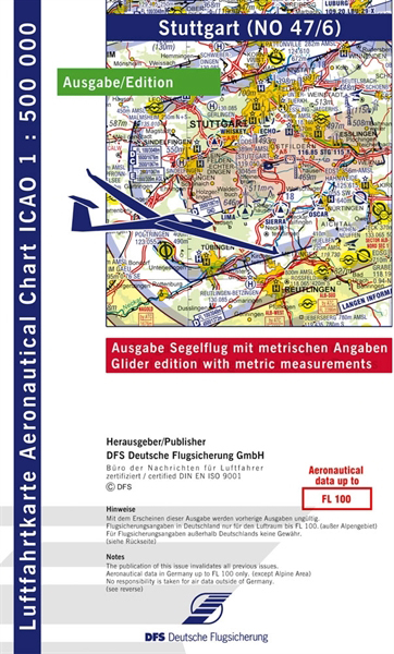 ICAO-Segelflugkarte Stuttgart 2021 Lieferbar ab KW 13