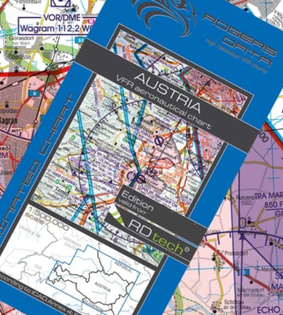 Rogers Data Österreich VFR Luftfahrtkarte – ICAO Karte