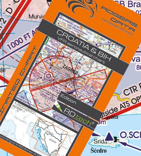 Rogers Data Kroation & BIH VFR Luftfahrtkarte – ICAO Karte