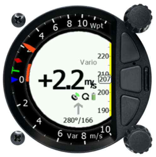 S80 Doppelsitzeranzeige Variometer 80 mm