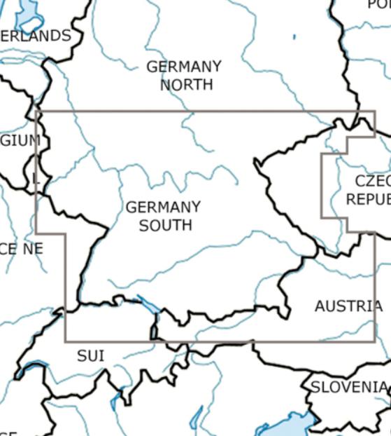 Rogers Data Deutschland Süd VFR Luftfahrtkarte – ICAO Karte