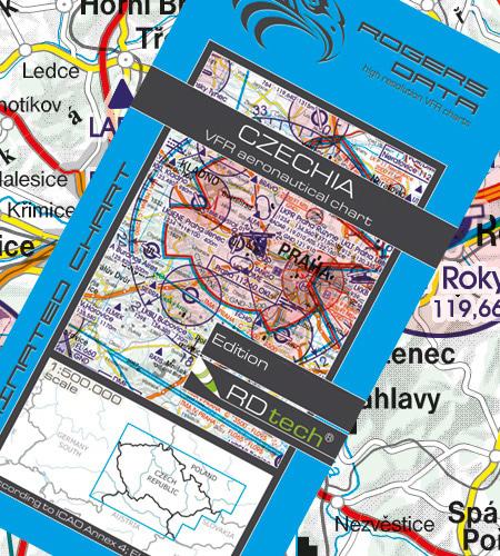 Rogers Data Tschechien VFR Luftfahrtkarte – ICAO Karte