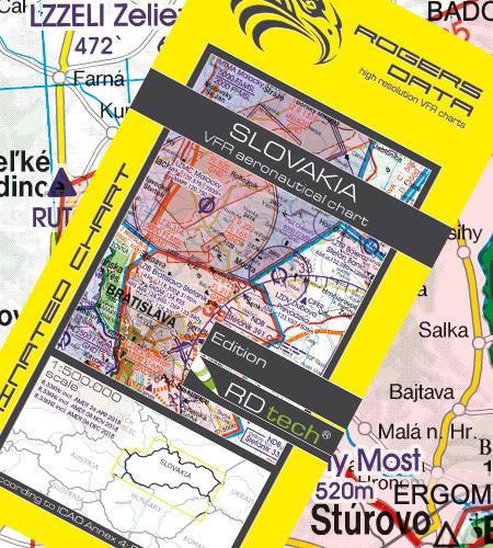 Rogers Data Slowakei VFR Luftfahrtkarte – ICAO Karte